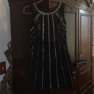 NWT. Forever 21 Black w/Gold Bullets Dress M